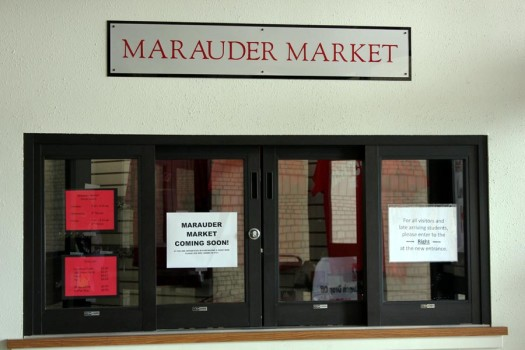 The+new+Marauder+Market%2C+located+at+the+front+of+the+school+in+the+old+security+box%2C+is+set+to+open+on+Sept.+23.+