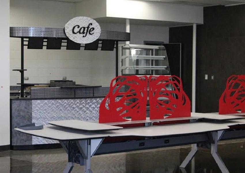 Just like the main campus, the freshmen center also has a cafe.