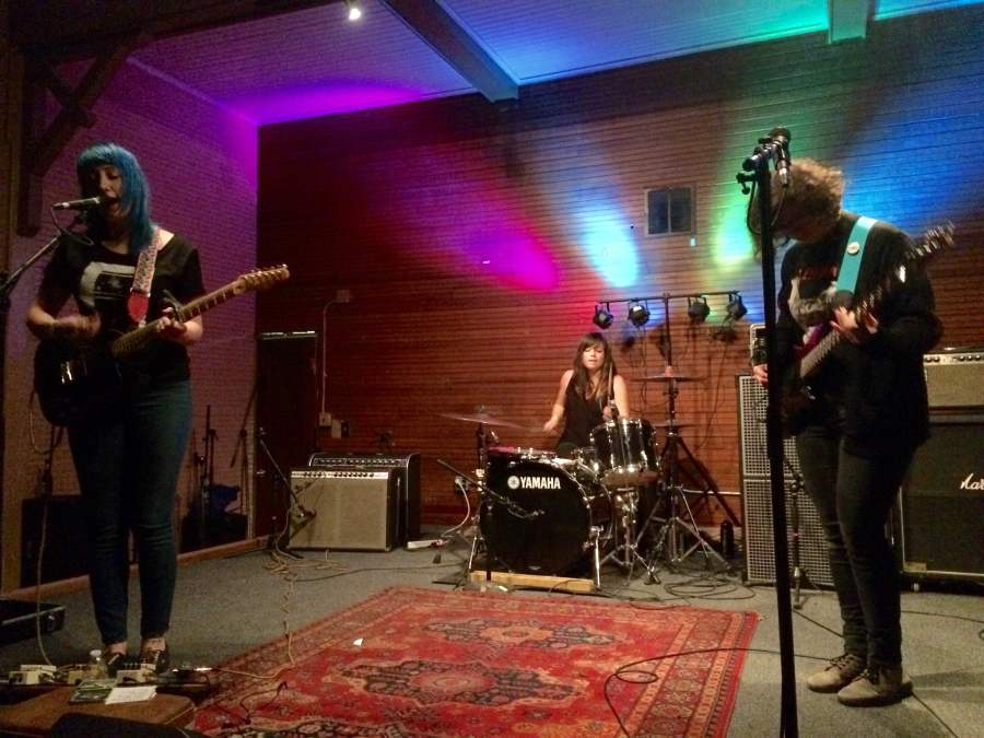 Cayetana+played+Sons+of+Hermann+Hall+on+Saturday+Feb.+21.+Cayetana+is+%28from+left+to+right%29+Augusta+Koch%2C+Kelly+Olson+and+Allegra+Anka.