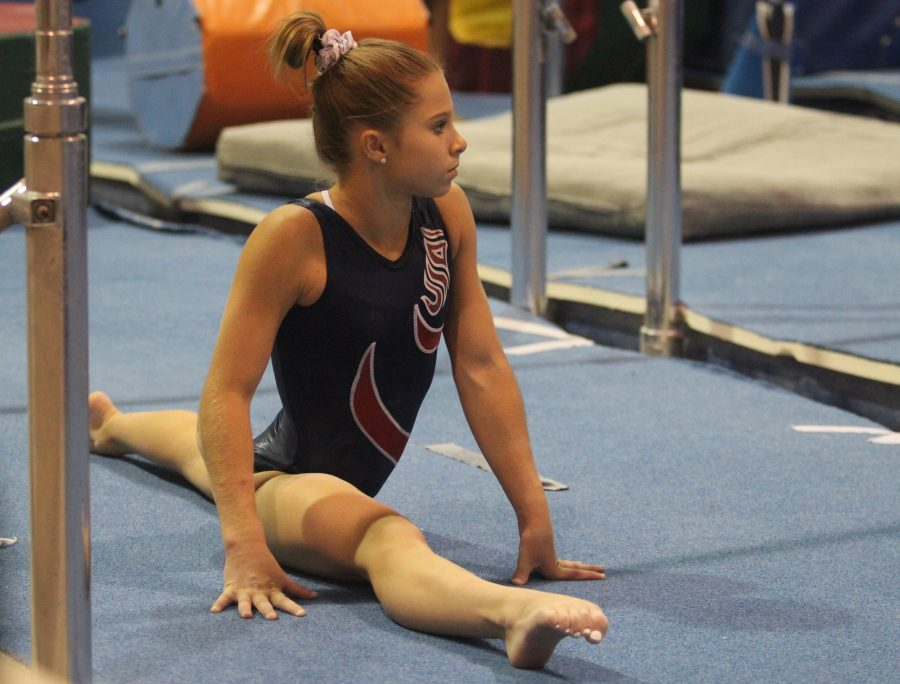 Gymnast+Ragan+Smith+trains+at+Texas+Dreams+gym+in+Coppell.+She+practices+for+over+six+hours+every+day.
