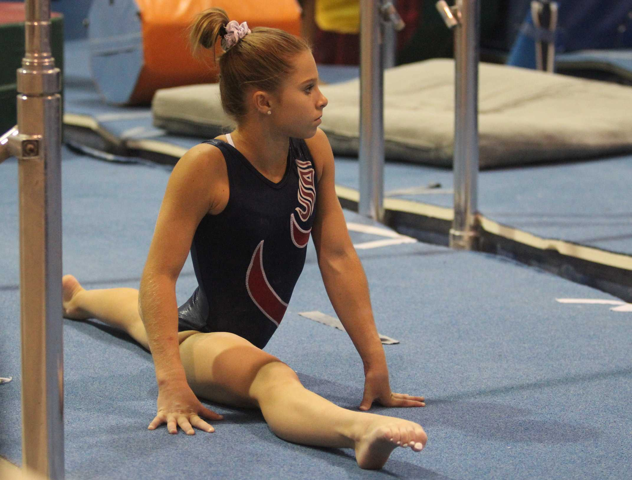 Gymnast Ragan Smith trains at Texas Dreams gym in Coppell. She practices for over six hours every day.