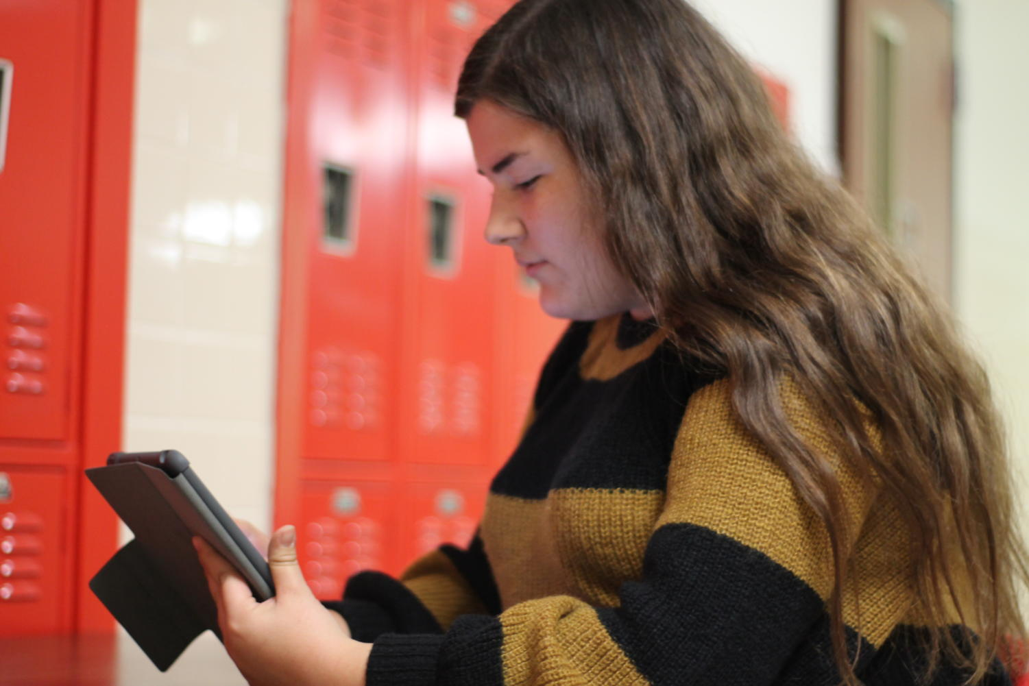 Junior Julia Campopiano digitally paints on her personal iPad by using her finger and the app Procreate. To find Campopiano's YouTube channel search her name.