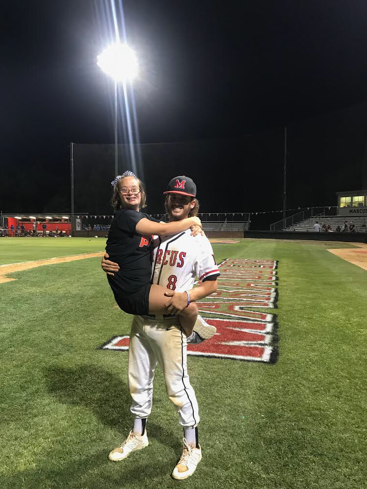 Last year, current senior Brett Hedges took a picture with his sister, freshman Brynn Hedges just after winning the game against Waco Midway High School. The win in round three of the playoffs allowed the varsity baseball team to advance to the regional semi-finals.