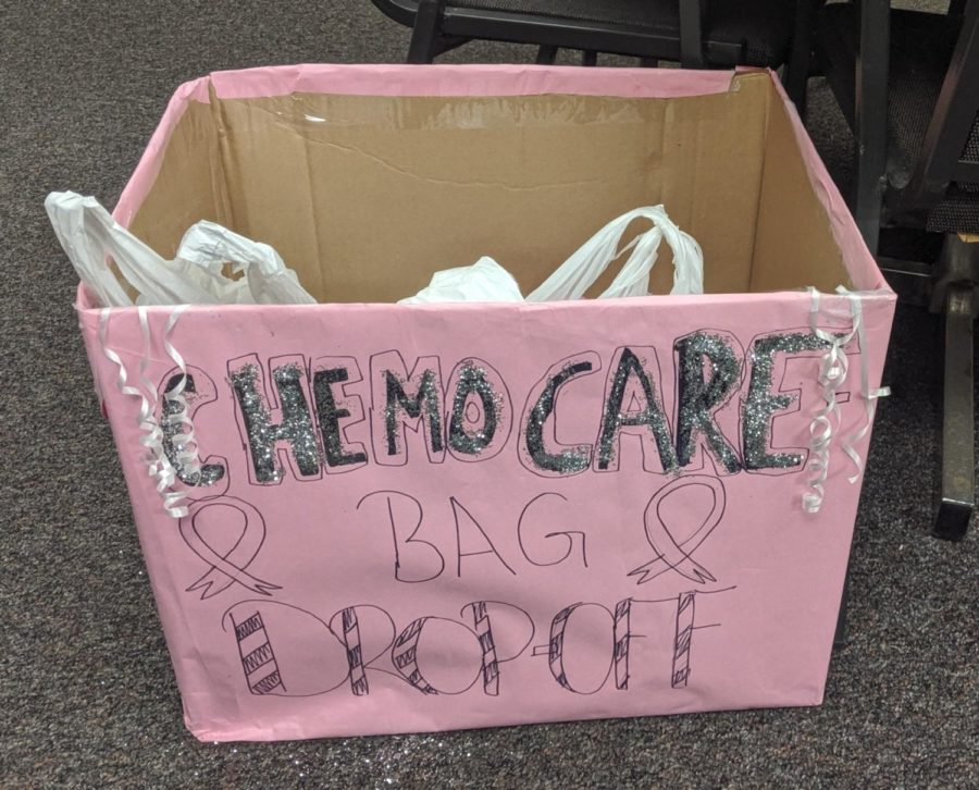 There is a box for donations outside of the athletic training room, which is in the athletics hall between the main campus and the ninth grade campus.