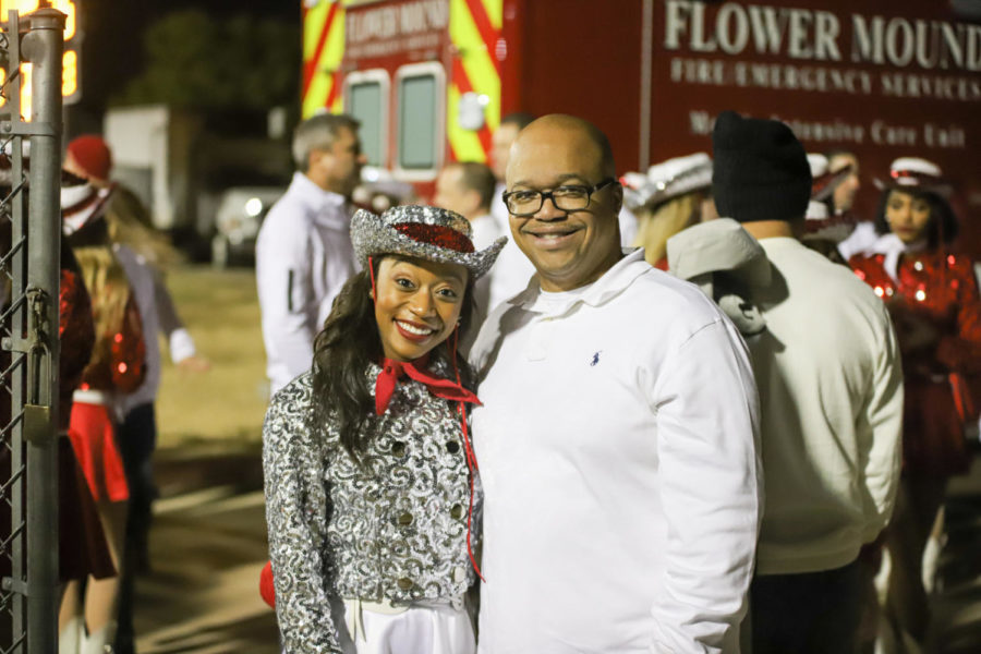 Senior Marquette officer Mariah Wheeler performed with her dad in the family dance. Wheeler has been a Marquette officer since she was a junior, and the game celebrated her and other seniors.