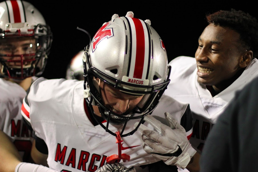 The Marauders played the Irving MacArthur Cardinals last year (pictured above) and came out on top 34-17. The Marauders' last game was against Flower Mound and they got the win 34-31.