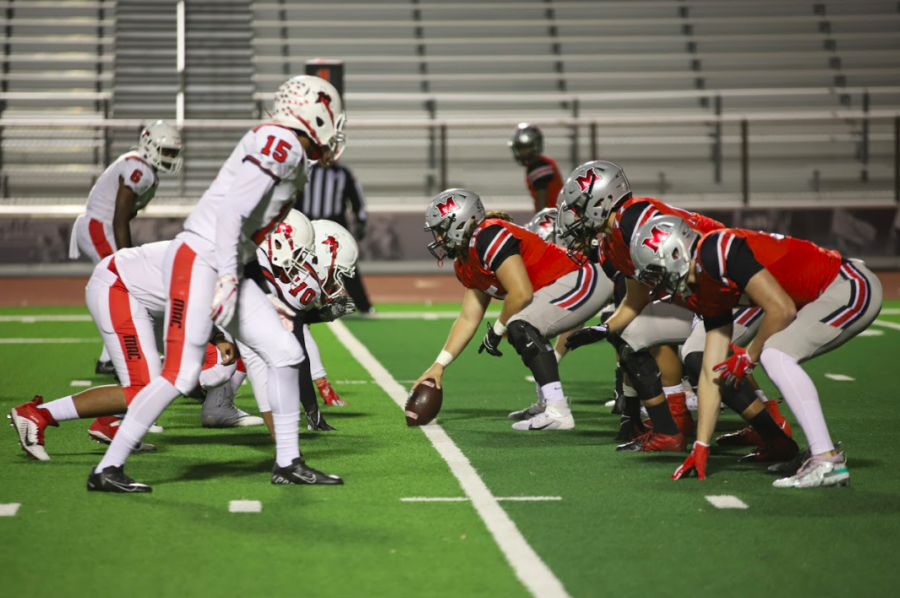 At their last game, the Marauders came out on top of the Irving MacArthur Cardinals 49-13. The team is looking to keep up their winning streak at they prepare to play for the axe.