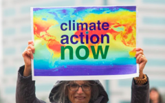 The Global Climate Strike, an environmental conservation organization, held a rally on Friday, Nov. 29 in order to let the government know they want climate action. 40 people attended, brought signs, and marched as a group up and down W. 7th  in the rain while shouting chants that encouraged activism.