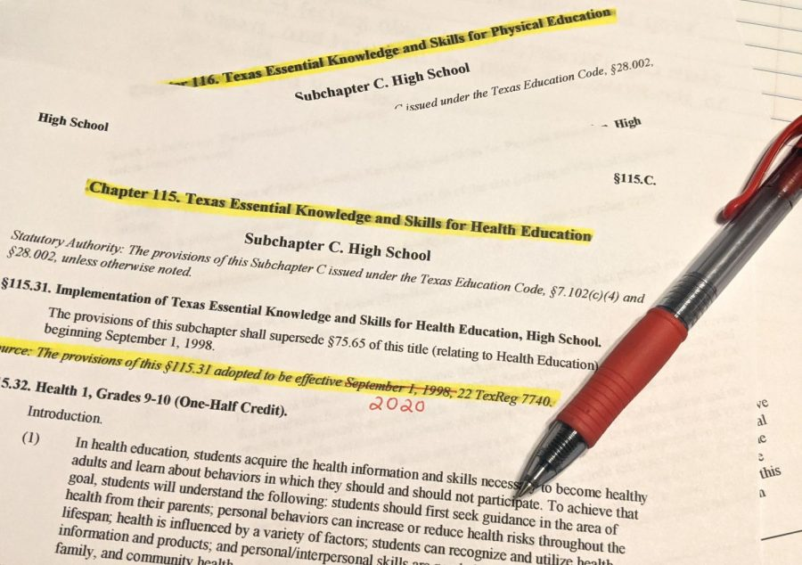 Students in health and physical education classes have been expected to learn the same Texas Essentials of Knowledge and Skills (TEKS) since 1998. The Texas State Board of Education is currently revising the TEKS and is expected to make a decision in the fall.