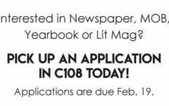 Journalism staff classes accepting applications