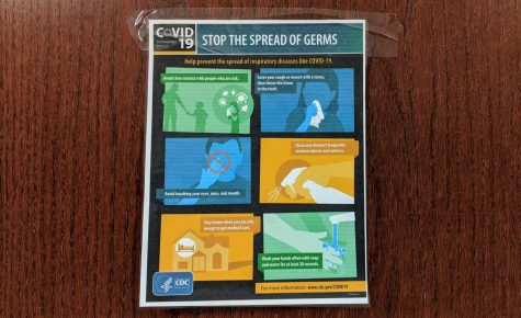 Fliers created by the CDC are posted throughout both the main and freshman campuses to inform students about how to avoid getting sick, especially with COVID-19. The district recently began making bigger changes to keep students healthy.