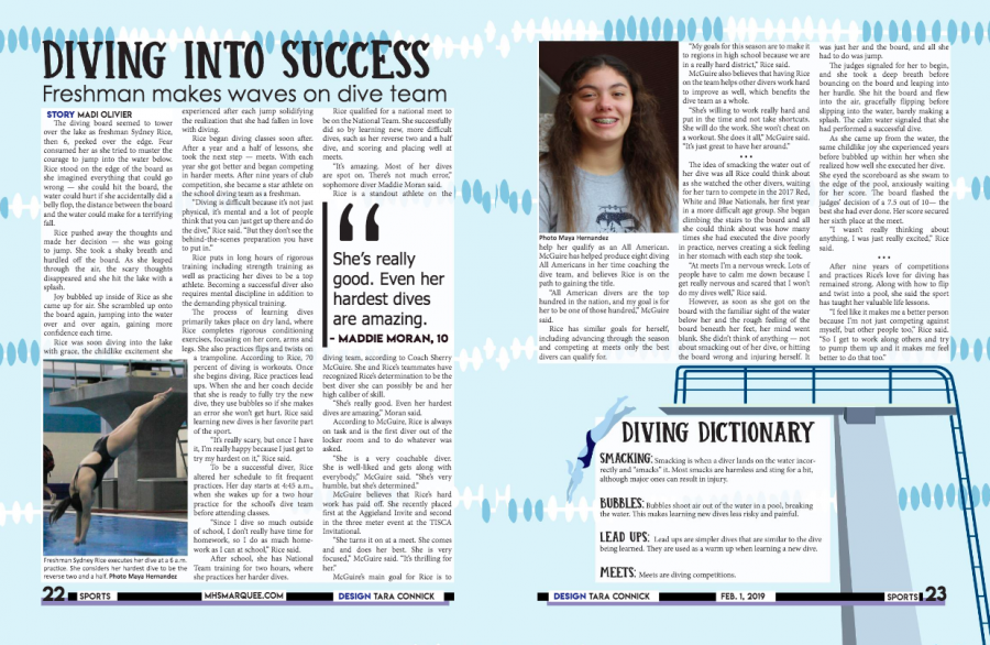 This spread ran in the The Marquee's February 2019 issue.