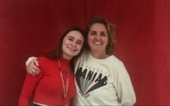Head Softball Coach Christy Tumilty and her daughter, senior Kamdyn King, at the 2019 Marquette Christmas show.
