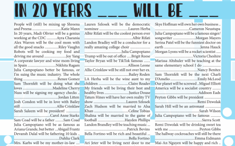 Seniors revealed where they see their friends in 20 years and more in The Marquee