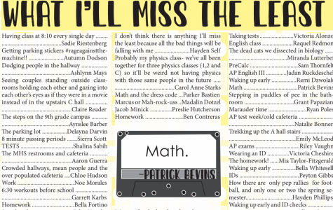 Seniors revealed what they'll miss the least after graduating and more in The Marquee's senior edition, which is available on Issue.com.