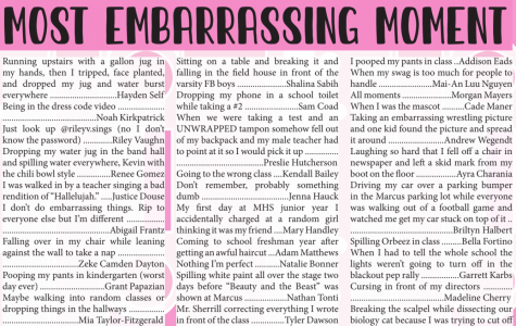 Seniors revealed their most embarrassing moments and more in The Marquee's senior edition, which is available on Issue.com.