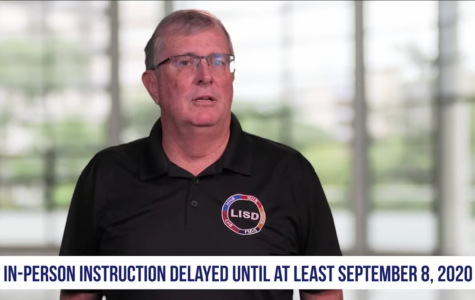 Superintendent Dr. Kevin Rogers announces LISD's plan to delay in-person learning until Sept. 8 in a video released by the district.