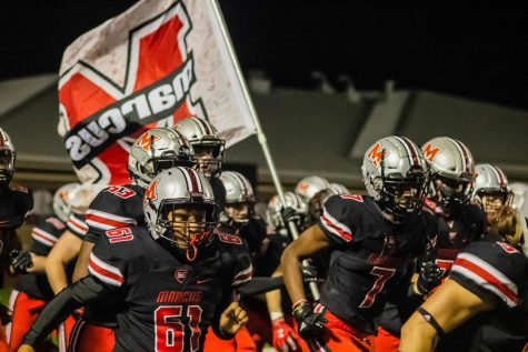 The Marauders take the field to play against Plano East last Friday. The Marauders ended the game on top 66-21.