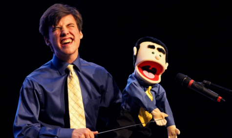 "Senior Landon Bradley sings ""Man or Muppet"" from the film ""The Muppets"" for his talent entry."