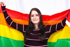 Junior Sydney Battiste came out when she was 11 years old. She identifies as bisexual.