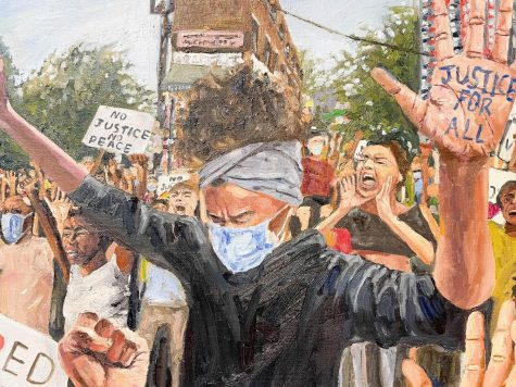 Junior Saloni Mistry's painting, pictured above, won the Chairman Grand Prize in the MLK contest.