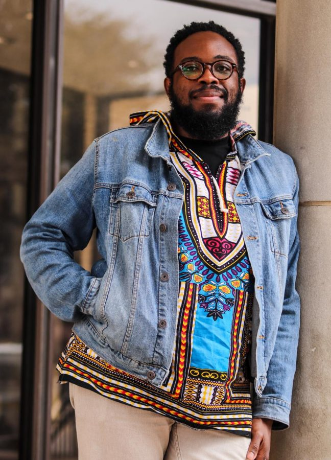 LISD hired Matthew Morris as the Director of Equity, Diversity and Inclusion after creating the position earlier this year. His shirt is made with traditional Kente cloth, which he wears in celebration of his culture.