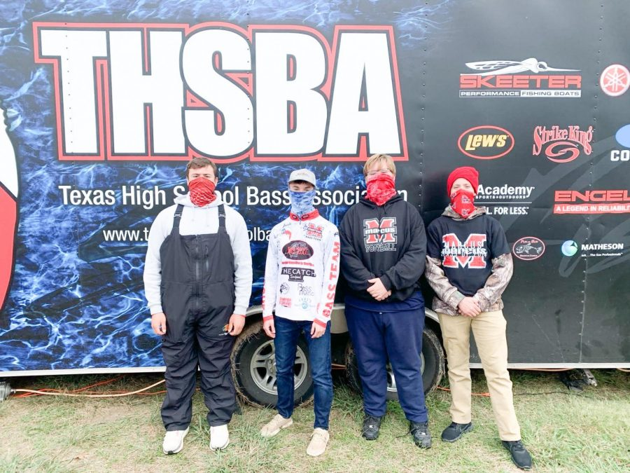 Junior Blaise Naug, senior Jacob Kelley, freshman Zane Niziol and freshman Troy Liverman won seventh place in the High School Bass Fishing Regional Competition on April 17. The club qualified for the state competition May 16-17.